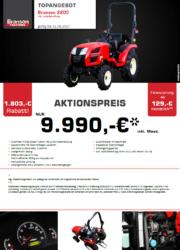 BRANSON 2200 Kompakttraktor Aktion August 2017