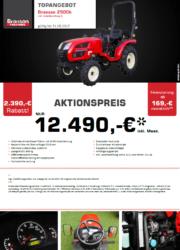 BRANSON 2900h Kompakttraktor Aktion August 2017