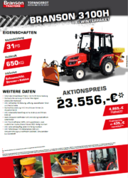 Branson 3100H Aktion Traktor - Kompakttraktor - Winterdienst
