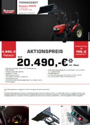 BRANSON 5025R Kompakttraktor Aktion August 2017 inkl. STOLL FC450H Frontlader mit Schaufel
