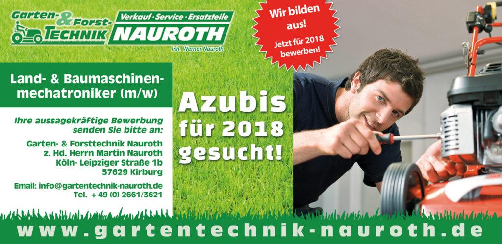 Gartentechnik Nauroth Stellenanzeige Auszubildender